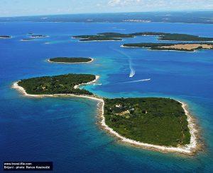 Panorama of Brijuni National Park, Brijuni Islands