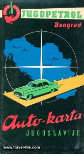 Jugopetrol Road Map from 1962
