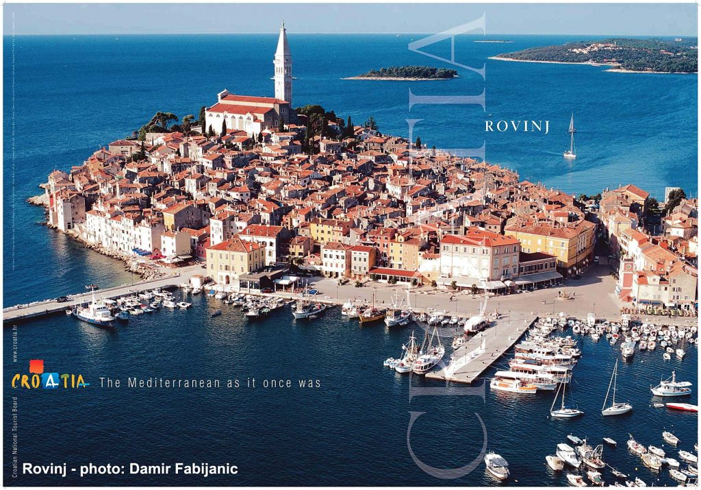 Panorama photo of Rovinj, Istria