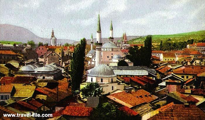 Sarajevo city panorama