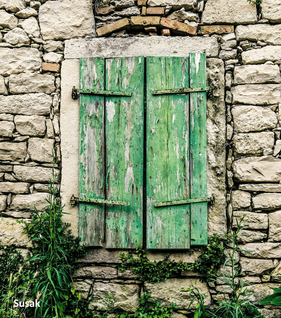 Window Shutters and dry stone walls @ Susak