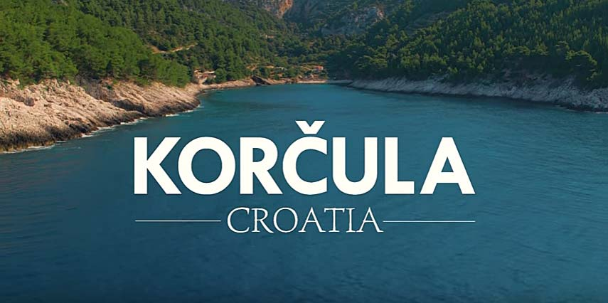 Video: Korcula from the Air