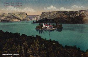 Visovac Lake, Island and Monastery – photo from 1915s