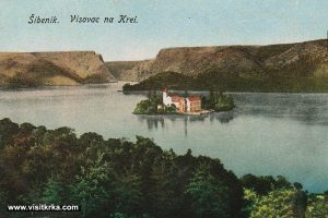 Views over Visovac Monastery, lake and island (1915s)