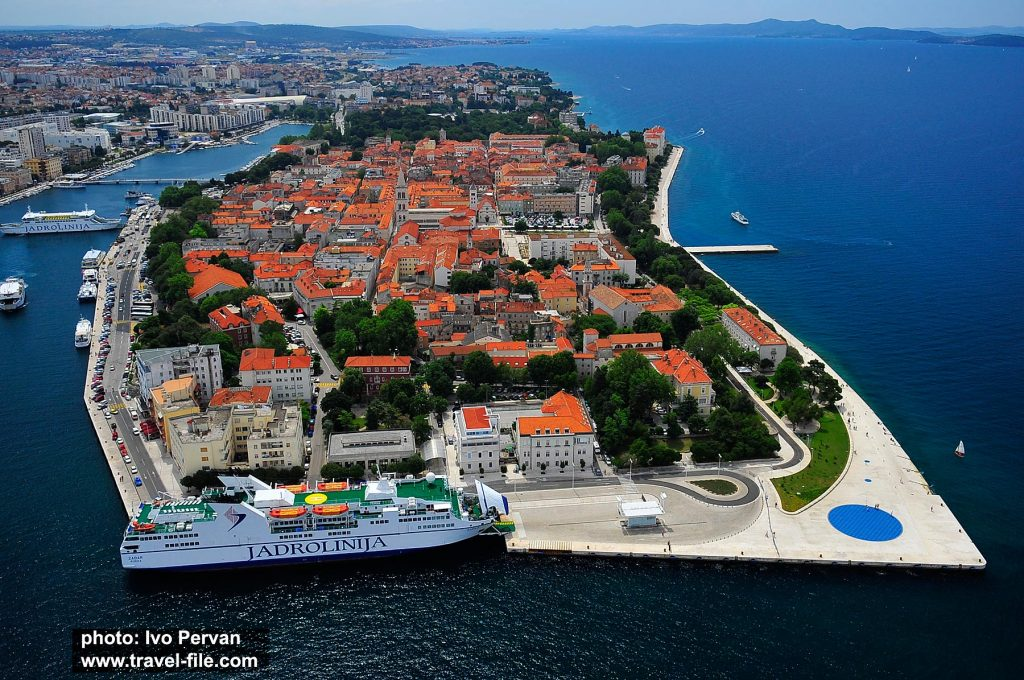 Panorama of Zadar Old town