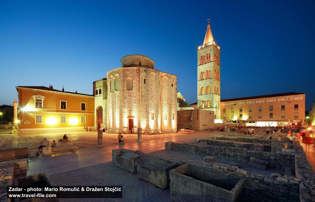 Roman forum with Sveti Donat Church and Cathedral - Zadar